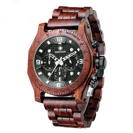 Good Quality Wooden Wrist Watch & Luxury Business Multifunction Wrist Watch Mens Wooden Watch Waterproof on sale