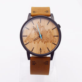 Good Quality Wooden Wrist Watch & Japan Quartz Movement Mens Stainless Steel Watch With Bamboo Dial on sale