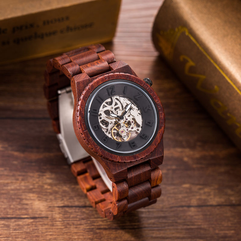 Stainless Steel Automatic Wrist Watch For Men Sea Gull Automatic Movement