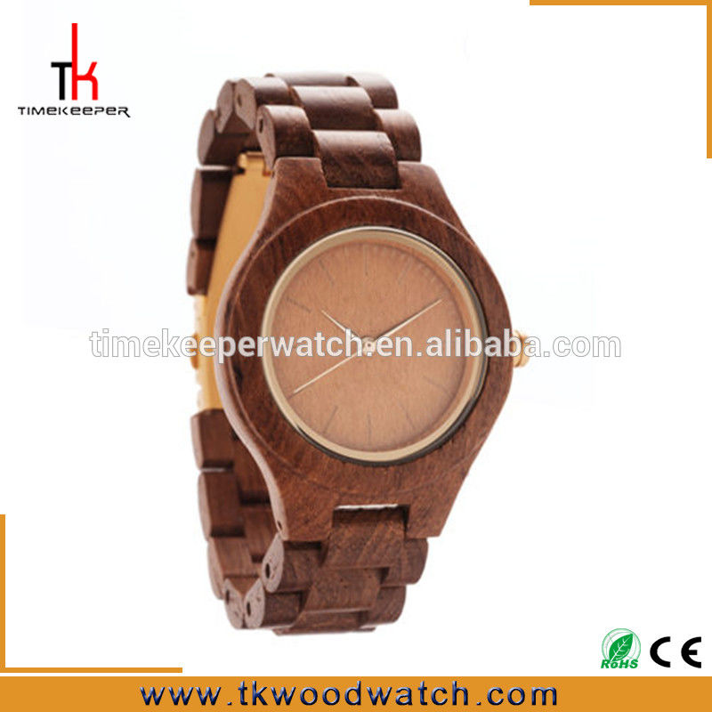 Made from wood Japan movement Wood caseback engraved wood watch