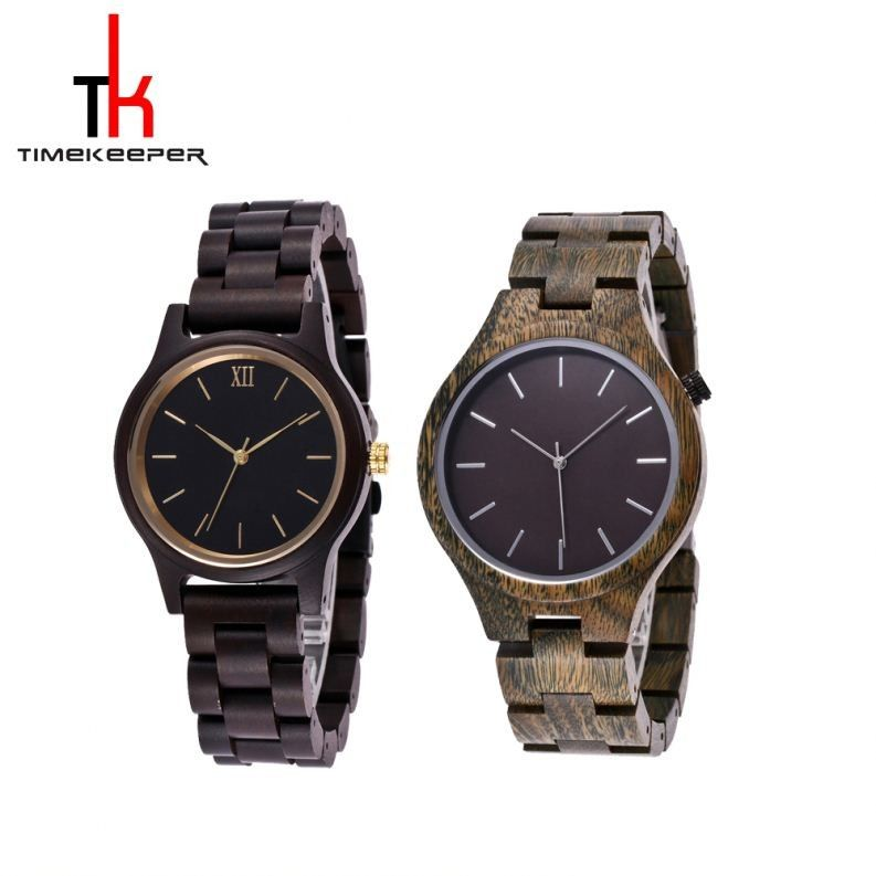 Japan 2035 Wood And Metal Watches Stylish Premium Zebra Wood Style Watches