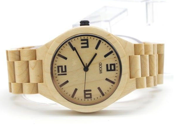 Personalised Wooden Watch For Him / Wood And Stainless Steel Watch