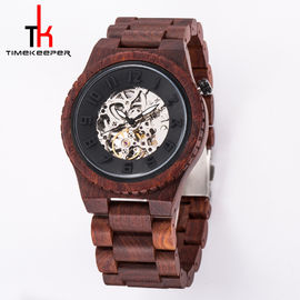 Luxury Waterproof Wood Watch , Mechanical Wooden Automatic Watch