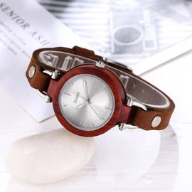 fashion lady watches , vintage designs , leather wood watches in elegant ,