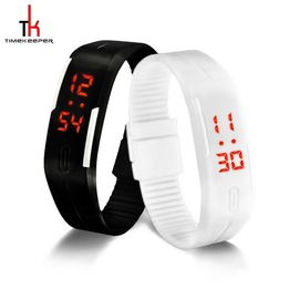Unisex Led Sport Multifunction Wrist Watch Fashion Water Resistant Black White