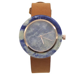 Marble Face Womens Watch With Leather Strap As Beautiful Gift