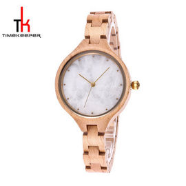 Healthy Marble Face Watch Women'S Luxury Wood Watches With Marble Dials