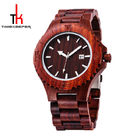 Red Sandal Wooden Wrist Watch Wood Face Watch With Your Logo